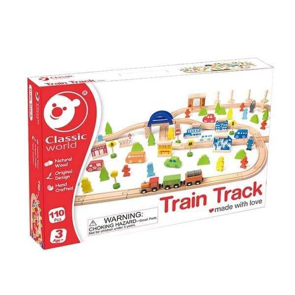 רכבת עץ 110 חלקים